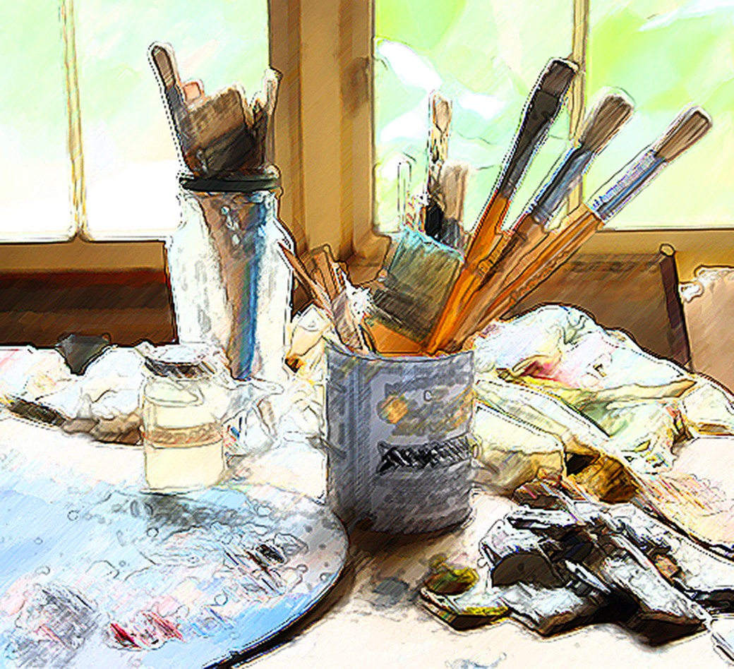 art table dark intensity filter
